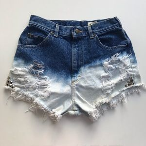 Lee |  Bleached Denim High Waisted Shorts